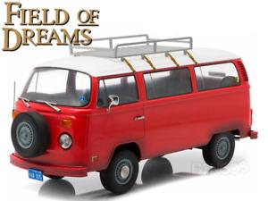 """""""Field of Dreams"""" 1973 VW Type 2 Bus (T2B) 1:18 Scale - Greenlight Diecast Model"""