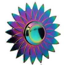 Rainbow Sunflower Finger Hand Spinner Tri Fidget Focus EDC Desk Toys For Kids