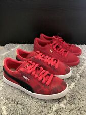 Lot Of 2 - Puma Suede Classic Sneakers Size 6 & 6.5, Red/ White/ Black
