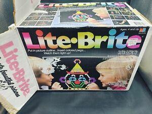 Vintage 1981 Hasbro  Lite Brite  Works well Original Box