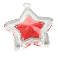 10x Mini Star Shape Plastic Clear Blusher Container Lipstick Box Transparent