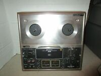 VINTAGE 1971 SONY TC-377 REEL TO REEL TAPE RECORDER POWERS ON USED TAPECORDER