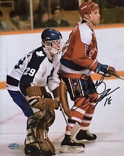 Craig Laughlin Autographed 8x10 Washington Capitals (Red Jersey) Caps