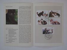 (04j22) Bund Erinnerungsblatt 2004 mit ESST Mi.Nr.  2402-2406 Jugend Katzen