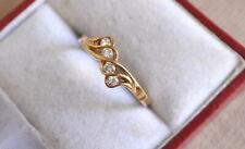 Bague Or jaune 18 carats et 4 petits Diamants 18k gold  diamonds ring