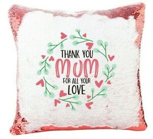 Sequin Cushion, Photo Reveal, Pillow Case, Mothers Day, Gift for Mum, thoughtful