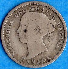 Canada 1894 10 Cents Ten Cent Silver Coin - G/VG