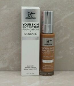 IT Cosmetics Your Skin But Better Foundation And Skincare TAN WARM 44 NIB