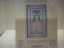 New listing Frank Lloyd Wright Waterlilies Art Glass counted cross stitch kit