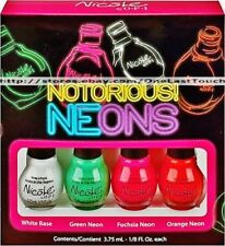 Nicole by OPI Nail Polish Notorious! Neons Minis Set of 4 Colors