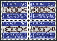 Liechtenstein 400 Bl./4, MI 454, MNH.EUROPA CEPT-1965.Ancient Alemannic ornament