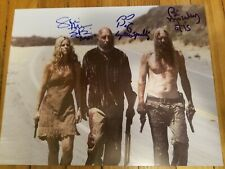 SID HAIG SHERI MOON ZOMBIE BILL MOSELEY SIGNED 11X14 PHOTO BECKETT BAS COA RARE!