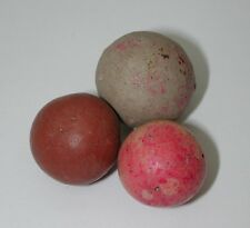 Lot of 3 Antique Clay Marbles R4513