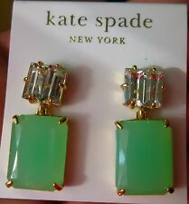 KATE SPADE AUTH VARADERO TILE RIDICULOUSLY GORGEOUS CRYSTAL DROP MIXED EARRINGS
