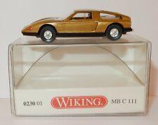 C MB 111 1971 or métallisé Wiking 023001 échelle H0 1 87 Maquette de voiture