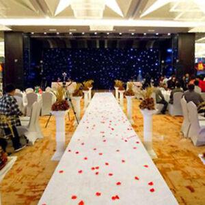 16ft White Carpet Festival Party Decoration Wedding Aisle Floor Runner Carpet
