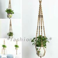 2pcs Hanging Plant Hanger Basket Garden Flower Pot Holder Rope Macrame Garden