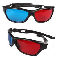 Red Blue Plasma TV Movie Dimensional Anaglyph Framed 3D Vision Glasses New