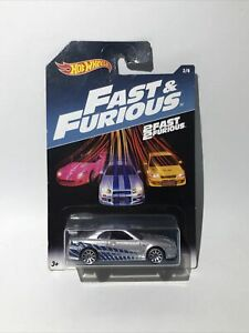 New/sealed Hot Wheels 2017 Fast & Furious NISSAN SKYLINE GT-R (R34) #2/8 New!