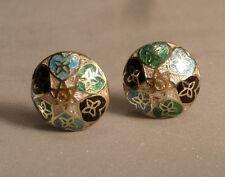 Enamel and Silver Bazaar Style Earrings
