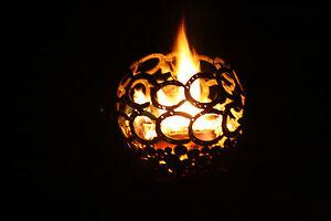 Feuerkugel Feuerschale mit Hufeisen Rost mit Untergestell