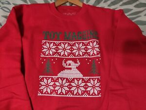 TOY MACHINE UGLY CHRISTMAS SWEATER CREW NECK MONSTER SWEAT SHIRT SIZE XL NEW