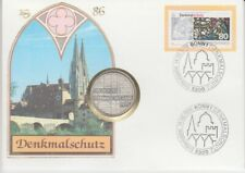 D. Numisbrief  Deutschland  5 DM  Silber  Denkmalschutz  1986