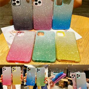 Gradient Glitter Case For iPhone 12, 12 Pro,12 Pro Max, 12 Mini Back Phone Cover