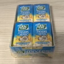 New 12 Packs Tic Tac Mixers Pina Colada Coconut Pineapple Best by Feb 2019