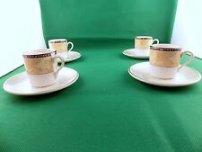 Duchess Amadeus Coffee Cans and Saucers x 4