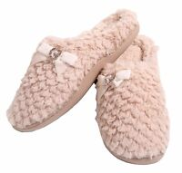 Slippers Slip On Ex Store Tu Fluffy Warm Winter Fleece Lined Backless New Ladies