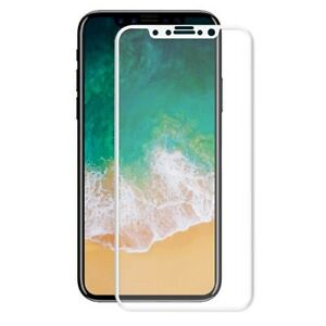 Apple iPhone X And Xs 5D Full CURVED WHITE Tempered Glass Screen Edge Protector