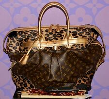 Louis Vuitton Sprouse Monogram STEAMER Leopard Pony Snakeskin Travel Bag LIMITED