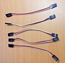 5 x paire 150mm jr servo extension cord cable fil de plomb pour rc voiture/hélicoptère