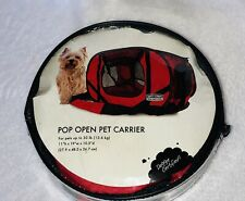 "Sport Pet Portable Soft Sided Dog Kennel, Red, medium,10.5""D X 19""W X 11""H-NEW"