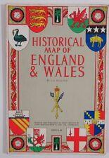 1965 Bartholomew's Historical Map of Scotland by L G Bullock - on CLOTH
