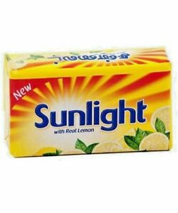 Sunlight Lemon Soap Bar for Laundry Detergent Hand Clothes Washing Soap 2pcs