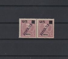 Portugal - Angola Local Republica Nice Pair With Error W/ Certificate