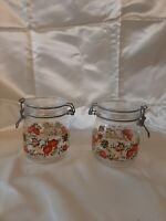 Vintage Niveau deRemplissage Arc France Canisters Mushroom Onion Tomato 1960s.