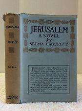 JERUSALEM: A Novel By Selma Lagerlof - 1915, 1st Am, IN RARE DJ, Swedish Nobel