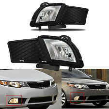 for 2010-2013 Kia Forte Clear Front Bumper Fog Lights Lamps+Bulbs+Wiring+Switch