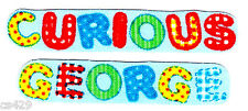 """4"""" CURIOUS GEORGE MONKEY NAME  SET  CHARACTER FABRIC APPLIQUE SET IRON ON"""