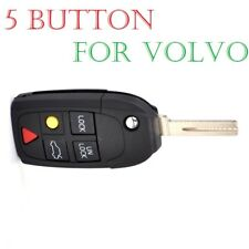 REMOTE KEY FOB CASE BLADE Replacement For VOLVO S80 S60 V70 XC70 XC90 5 BUTTON
