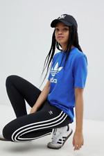adidas Originals adicolor Women Three Stripe Leggings Black High Rise Athletic 8