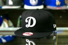 New Era Los Angeles Dodgers D Logo Black MLB Baseball Snapback Embroidered Hat