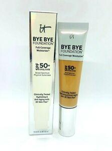 It Bye Bye Foundation Full Coverage Moisturizer SPF 50+ - Medium Tan - 1 oz BNIB