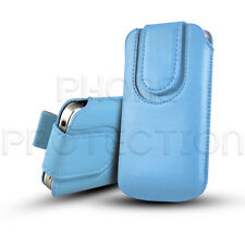 BUTTON CLOSE LEATHER PULL TAB CASE COVER HOLSTER FOR VARIOUS HUAWEI & ZTE PHONES