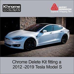 Chrome Delete Kit fitting the 2012-2020 Tesla Model S