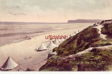 UK ENGLAND MARSKE-BY-THE-SEA bathing tents along beach 1910 FRITH'S SERIES