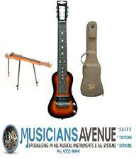 SX Ash Series 6 String Lap Steel Guitar Bag Stand 3 Tone Sunburst Gloss